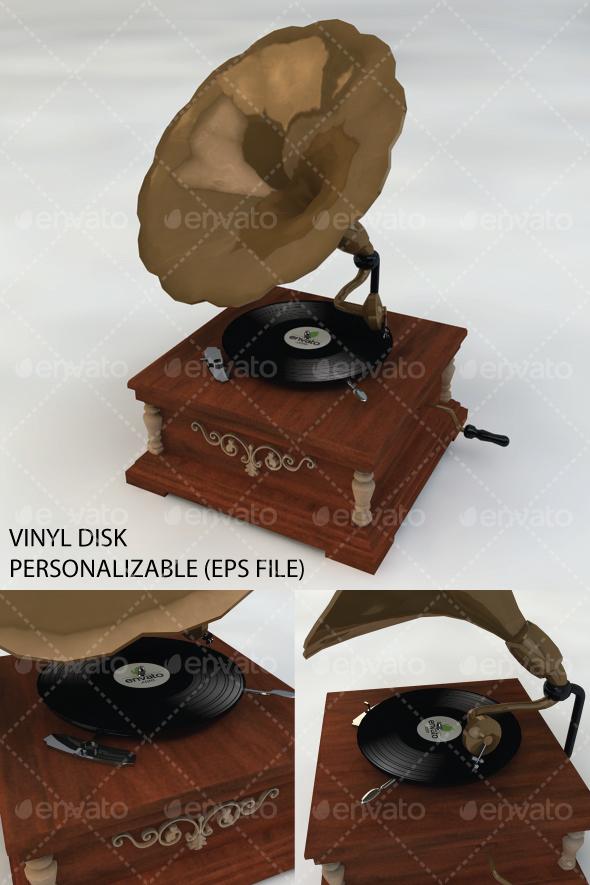 Gramophone - 3DOcean Item for Sale