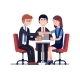 Download Vector Successful Business Meeting or Job Interview
