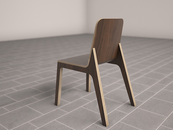 3D  Ono Dining Chair Model - 3DOcean Item for Sale