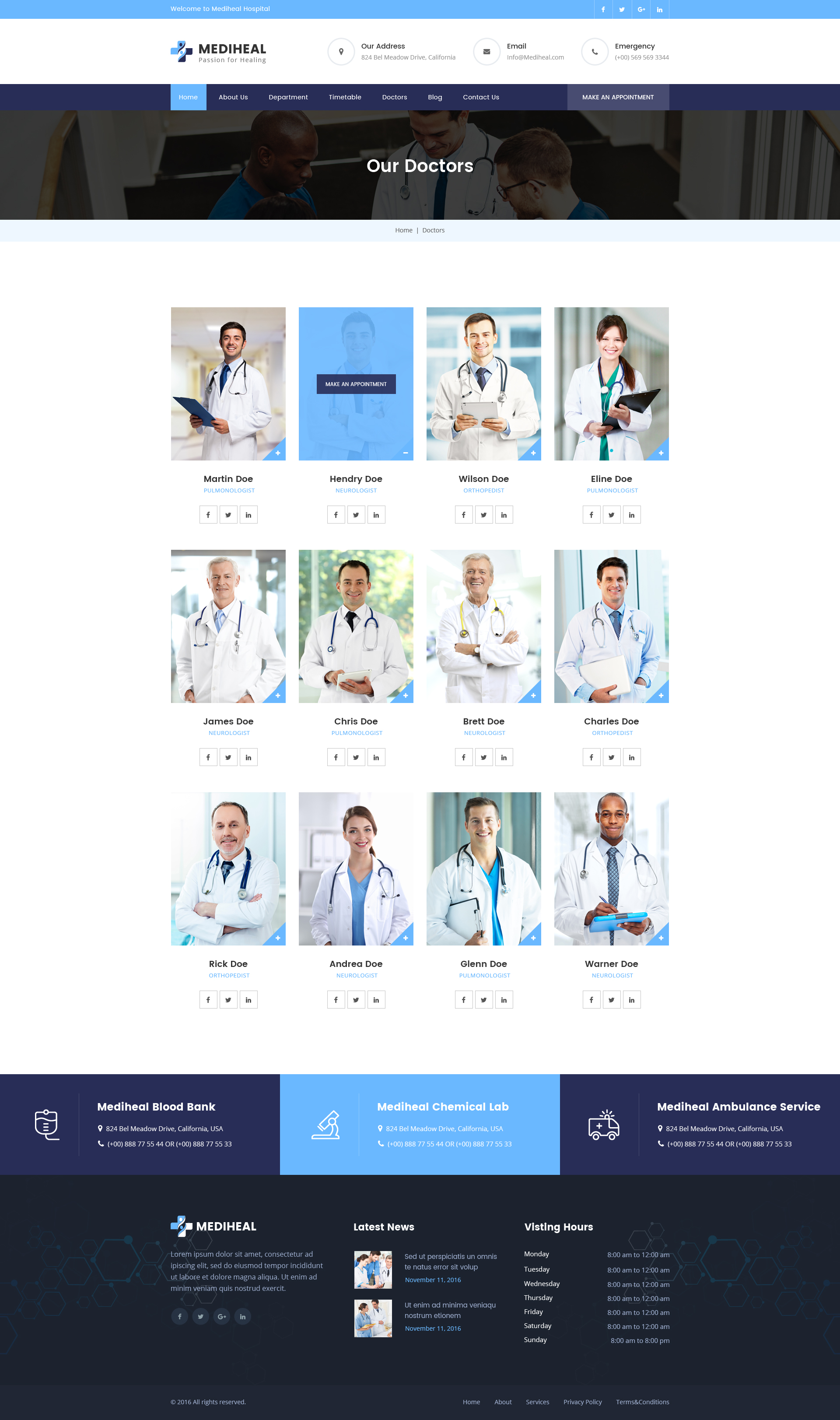 hospital menu template - mediheal medical hospital psd template by techmerea