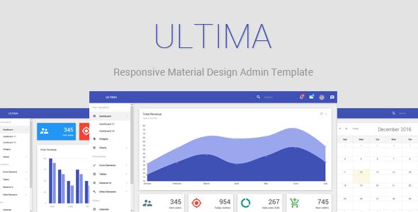Ultima - Responsive Material Design Admin Dashboard
