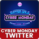 Cyber Monday Twitter Headers - 10 PSD