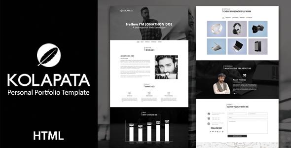 Kolapata - One Page Personal Portfolio Template