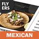 Mexican Restaurant Menu Flyers – 4 Options