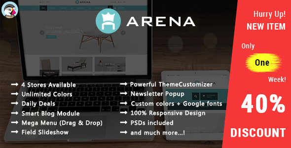 Download Arena - Responsive Prestashop Theme nulled download