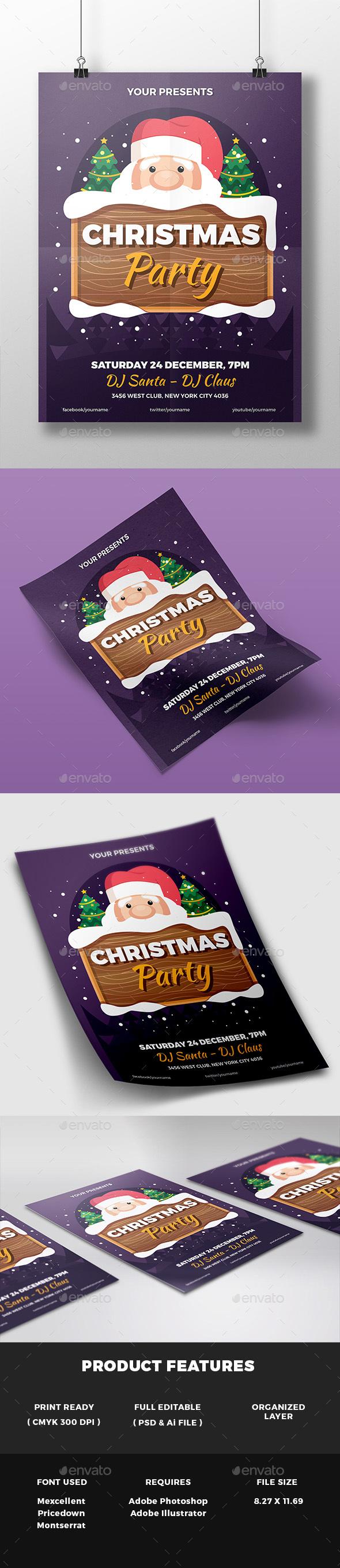 Christmas Party Flyer v2