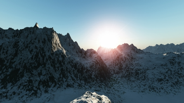 Download Mountains in Snow at Sunrise nulled download