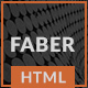 Faber-One Page Resume/Portfolio HTML Template