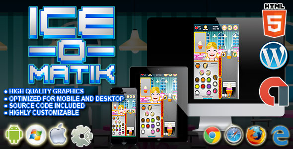 Download Ice O Matik - HTML5 Construct Cooking Game nulled download
