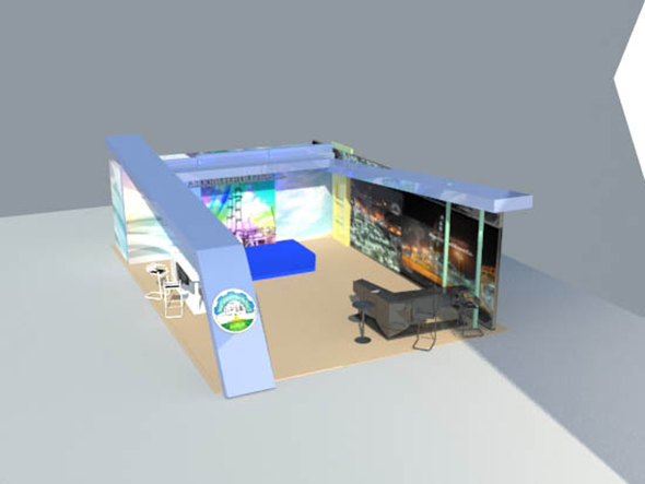 sahara exhibition booth - 3DOcean Item for Sale