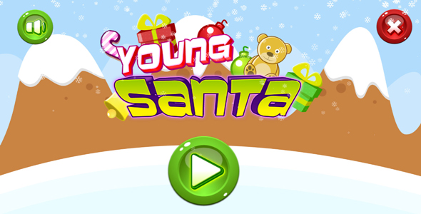 Download Young santa - HTML5 game. Construct 2(.capx) + mobile + leaderboard nulled download
