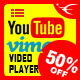 YouTube And Vimeo Video Player with Playlist