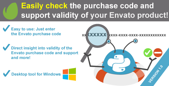 WeePie Envato Purchase Code and Support Checker - an Envato validator tool