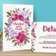Flower Wedding Invitation Set