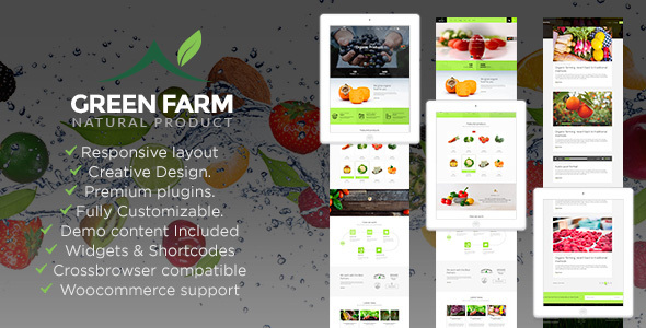 Green Farm – Organic Food & Eco Farm WP Theme