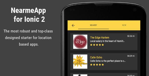 NearmeApp - Ionic 2 Starter for Location Based Apps