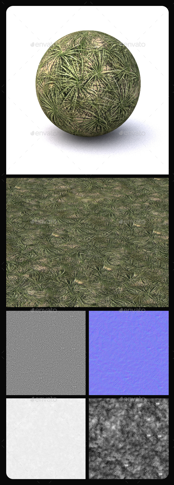 Grass Tile Texture 9 - 3DOcean Item for Sale