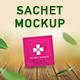 Sampling sachet mockup for cosmetic, condom