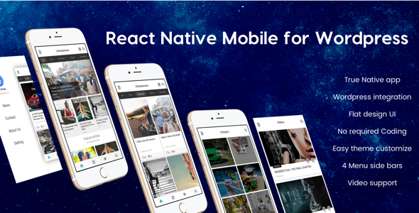 beonews react native mobile app for wordpress theme for u. Black Bedroom Furniture Sets. Home Design Ideas