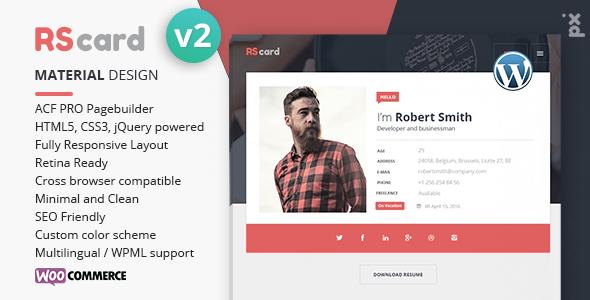 Resume, CV & vCard Theme by PX-lab | ThemeForest