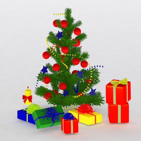christmas tree&gift - 3DOcean Item for Sale