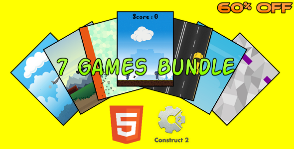 Download 7 HTML5 Games Bundle (Construct 2 - CAPX) nulled download