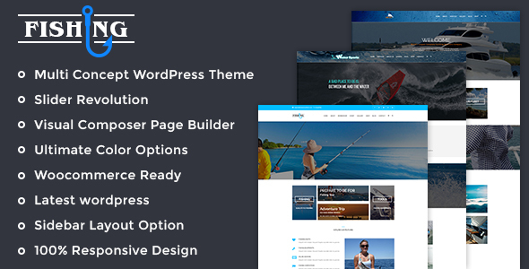 Fishing Yacht Water Sports - Fishing Club Wordpress Theme