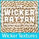 24 Wicker Rattan Background Textures