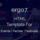 Ergo7 - HTML Template for Events | Parties | Festivals