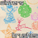 Winters Holiday Brushes