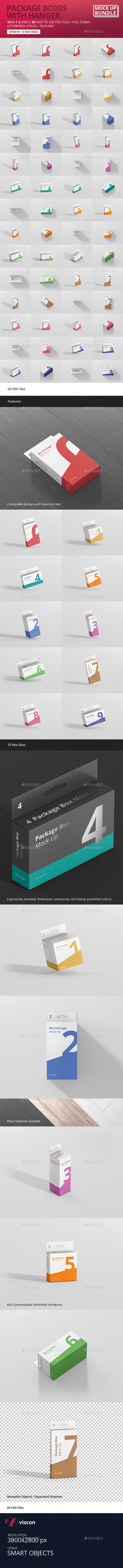 Box Mockup Bundle - with Hanger