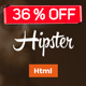 Hipster Responsive Landing Page-4 Versions
