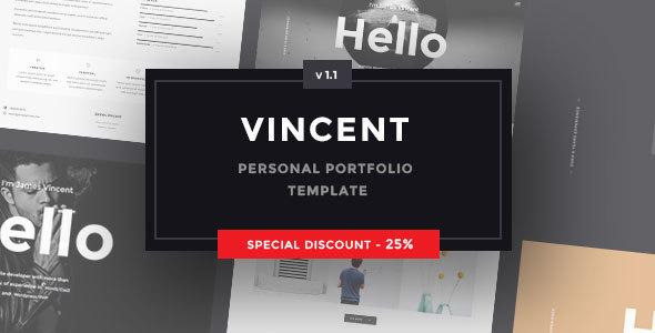 Vincent - Personal Portfolio Template