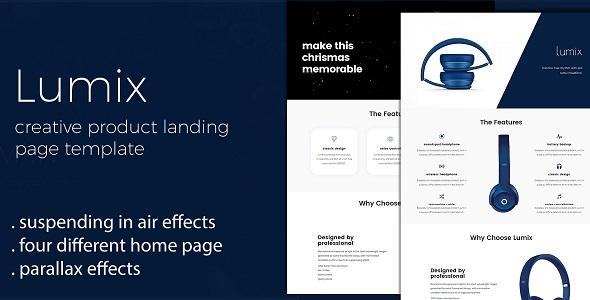Download Lumix - Product Landing Page Template nulled download