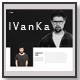 Ivanka - Minimal Portfolio Template