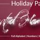 Holiday Particles - Animated Handwritten Font