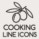 Food and Cooking Line Icons