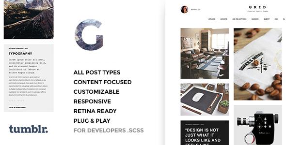Grid - Responsive Portfolio - Tumblr Theme