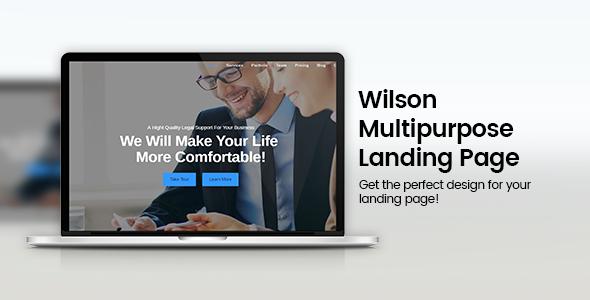 Download Wilson - Responsive Multipurpose Landing Page nulled download
