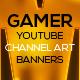 4 Modern Gamer Youtube Channel Art Banners