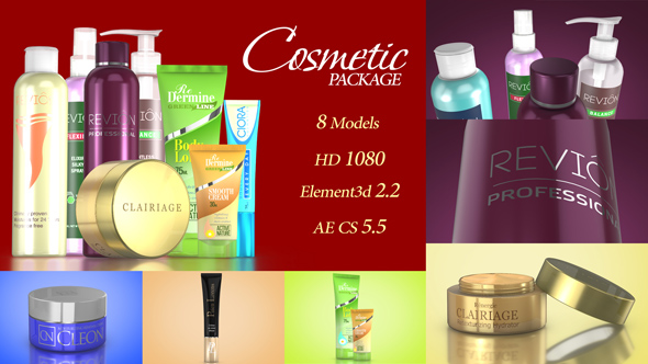 Cosmetic Package Template (Commercials)