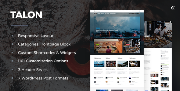 Download Talon - Responsive WordPress Theme nulled download