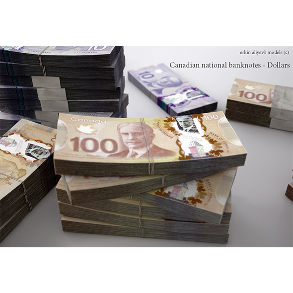 Canadian-Dollars - 3DOcean Item for Sale