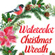Watercolor Christmas Wreaths