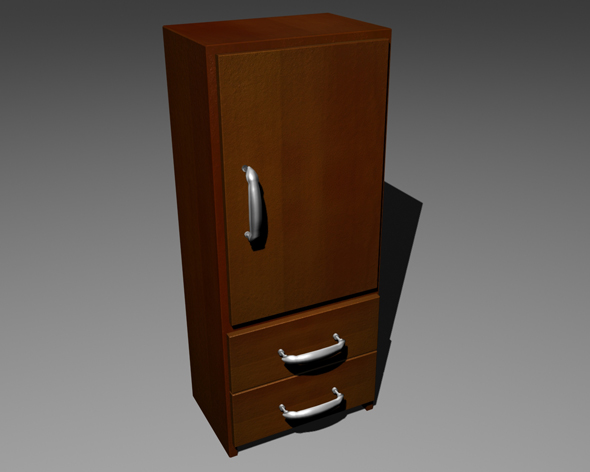 Wooden locker - 3DOcean Item for Sale