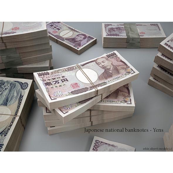 Japanese-Yen - 3DOcean Item for Sale