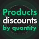 Product discounts by quantity