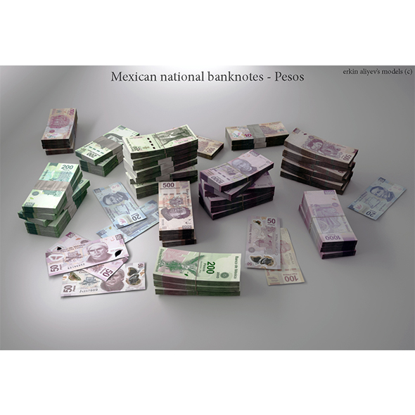 Mexican-Pesos - 3DOcean Item for Sale