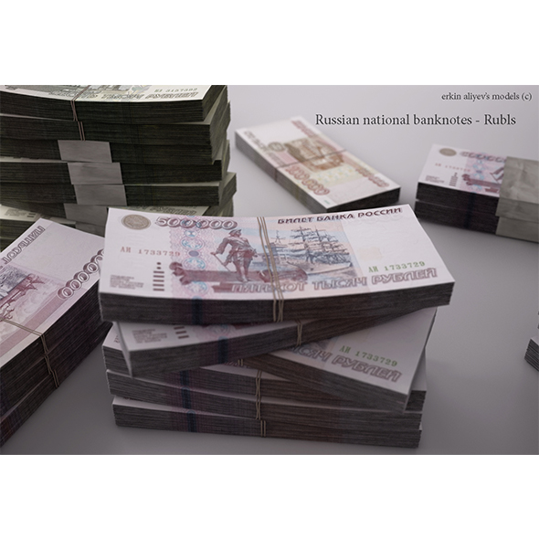 Russian-Rubles - 3DOcean Item for Sale