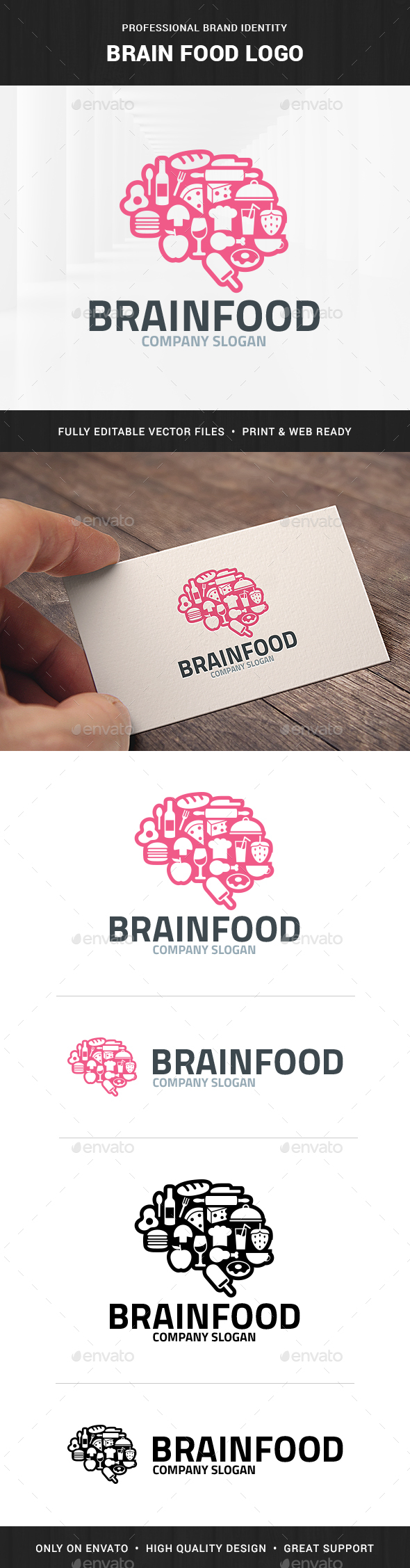 Brain Food Logo Template